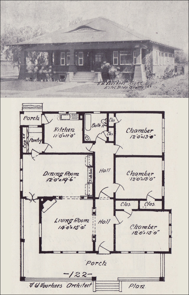 1908 Vintage House Plan Western Home Builder Bungalows