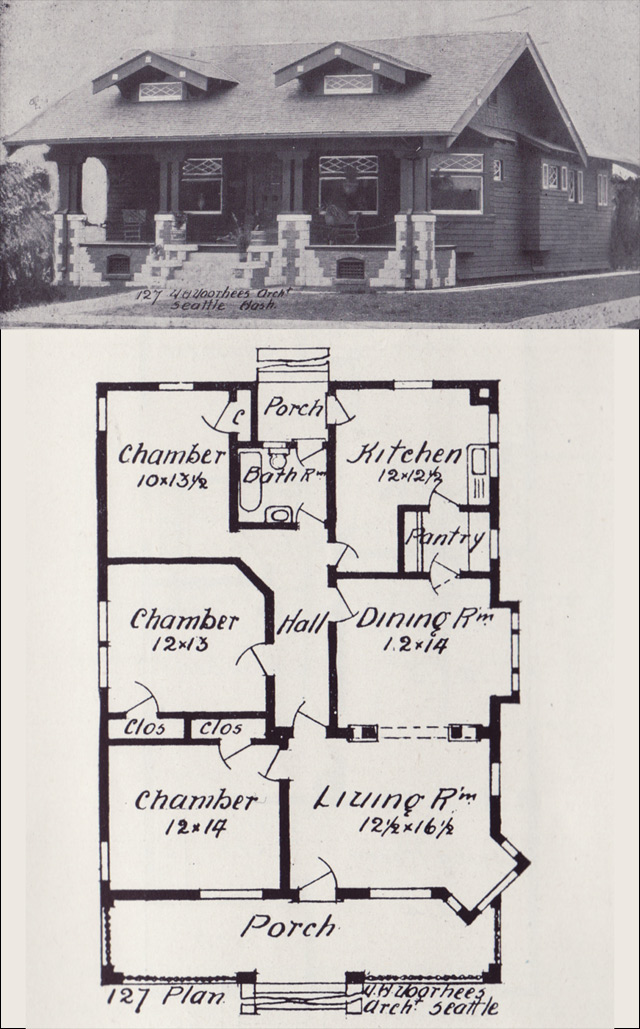 1900 century house plans 20th century house styles early for Styles of homes built in 1900
