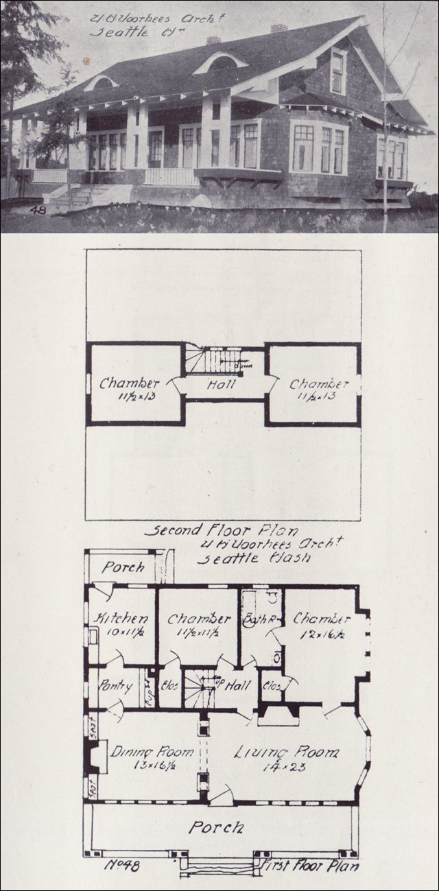 1908 Side Gabled Bungalow Plan Western Home Builder
