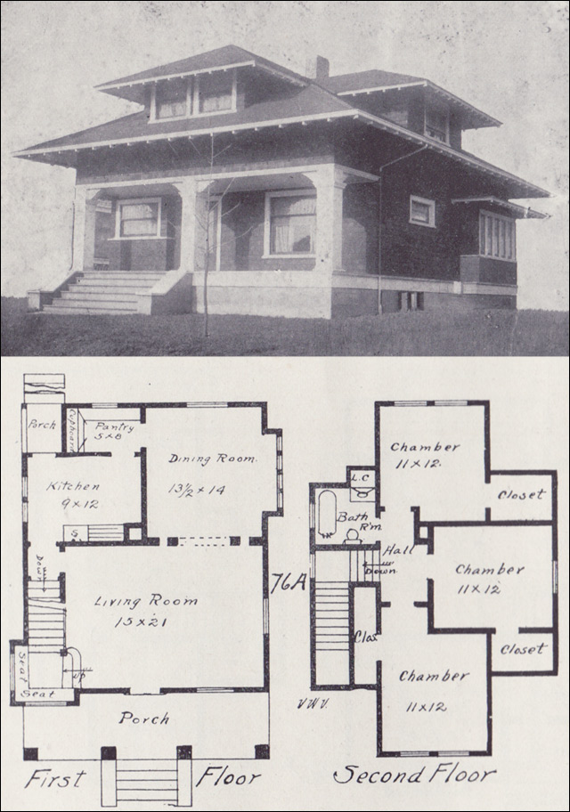 1908 Craftsman Style Bungalow Plan Western Home Builder