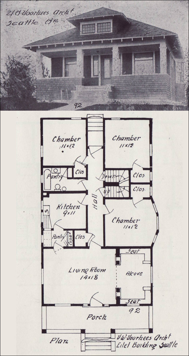 1908 Hip Roofed Bungalow Plan Western Home Builder