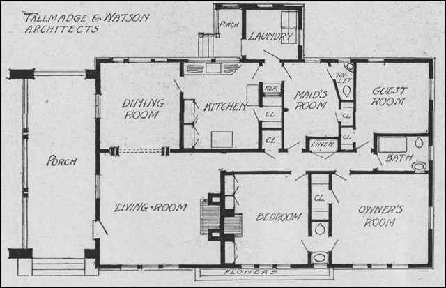 Planning the Bungalow Henry L Saylor 1911 House Garden – One Floor Bungalow House Plans