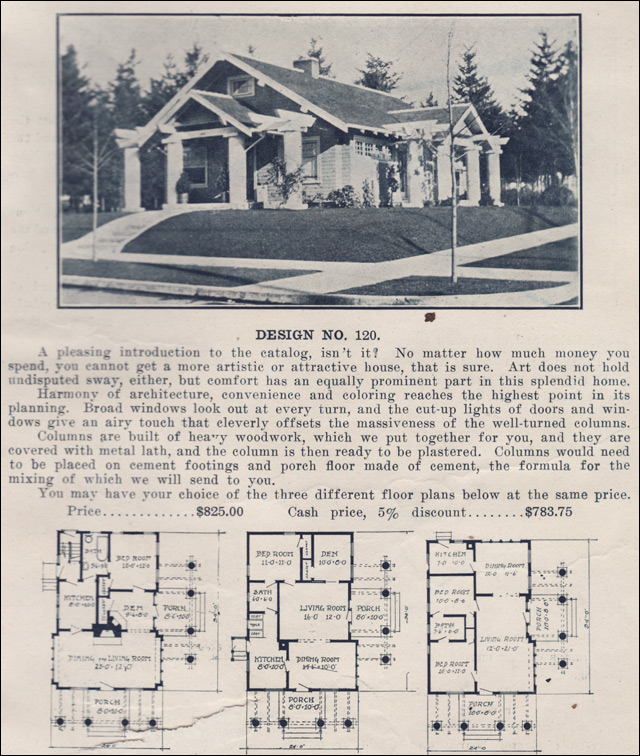 1915 bungalow kit home ready built house co plans for Ready built homes floor plans