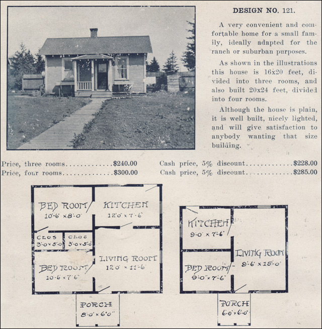 1910s house plans by the ready built house co tiny for Ready built homes floor plans