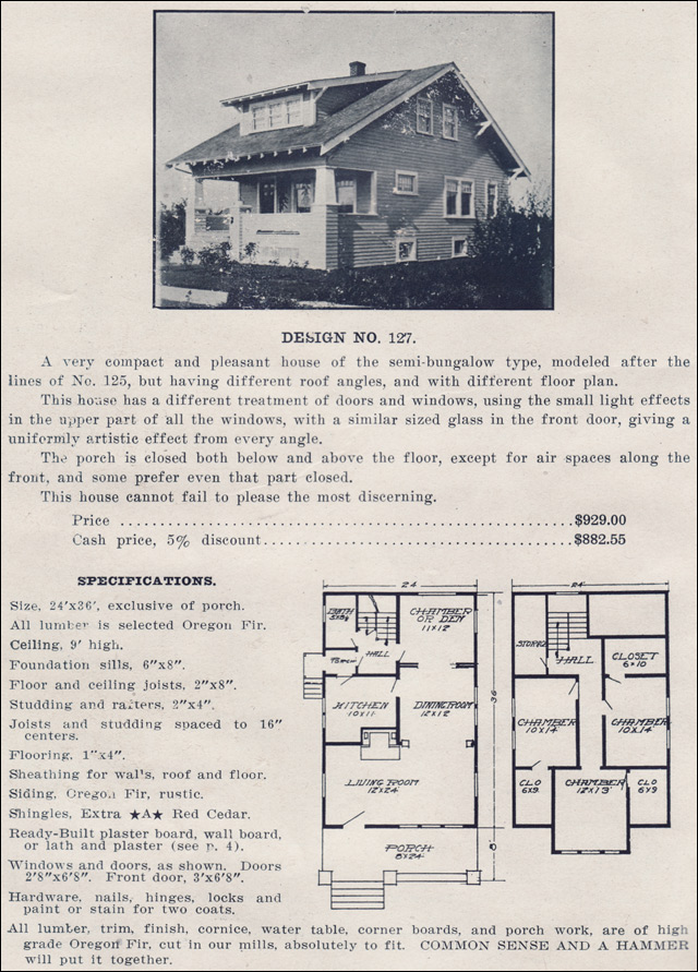 1910s bungalow kit homes by ready built house company no for Ready built homes floor plans