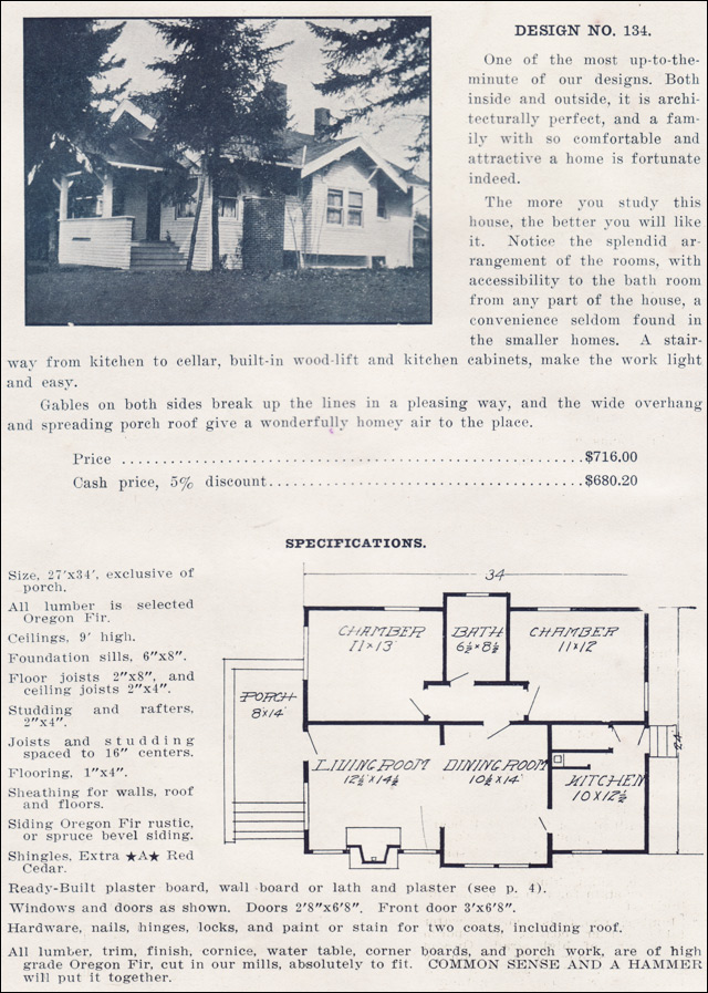 1915 small bungalow house plan no 134 ready built for Ready built homes floor plans