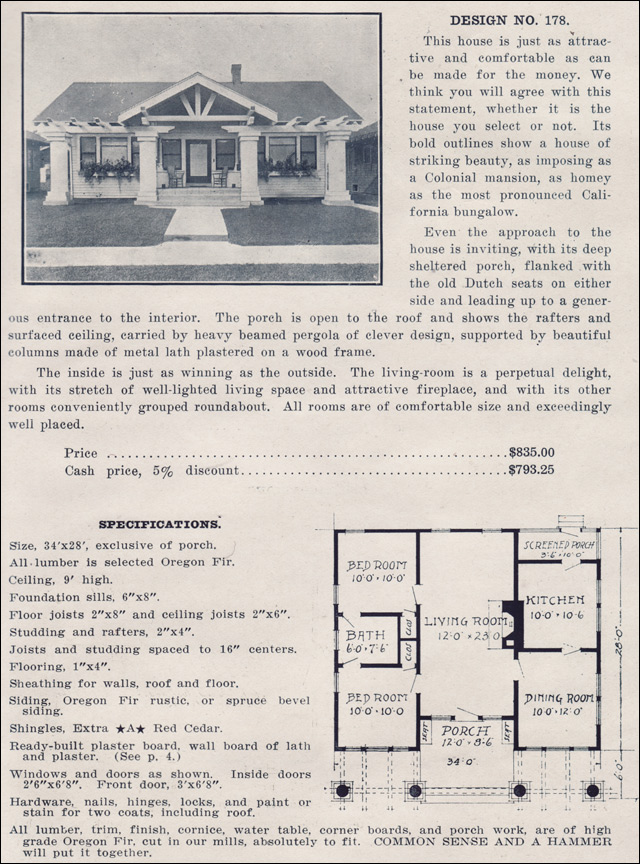 1910s House Plans By The Ready Built House Co.