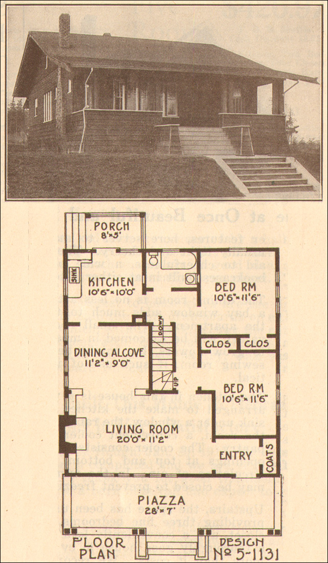 1915 Craftsman Style Bungalow Hewitt Lea Funck Company