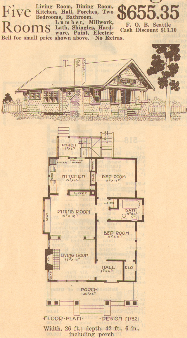 1915 bungalow plan design no 521 hewitt lea funck co for 521 plan