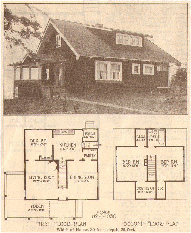 1915 bungalow hewitt lea funck company plan no 6 1050 for How to find blueprints of a house