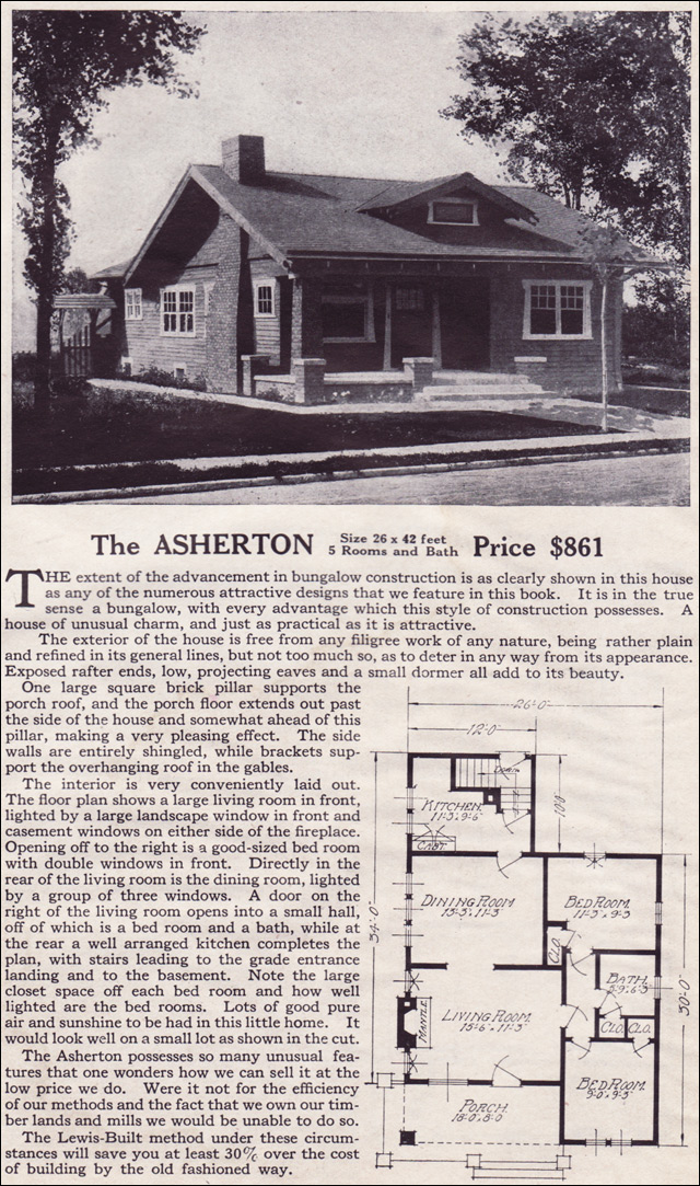 1916 Lewis-Built Homes - The Asherton