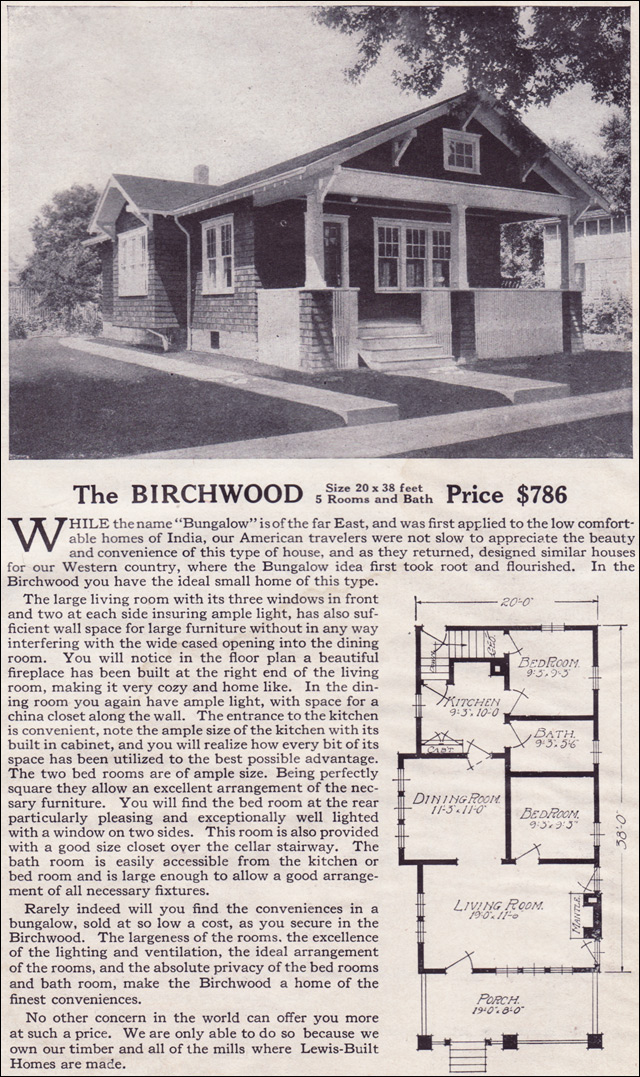 1916 Lewis-Built Homes - The Birchwood