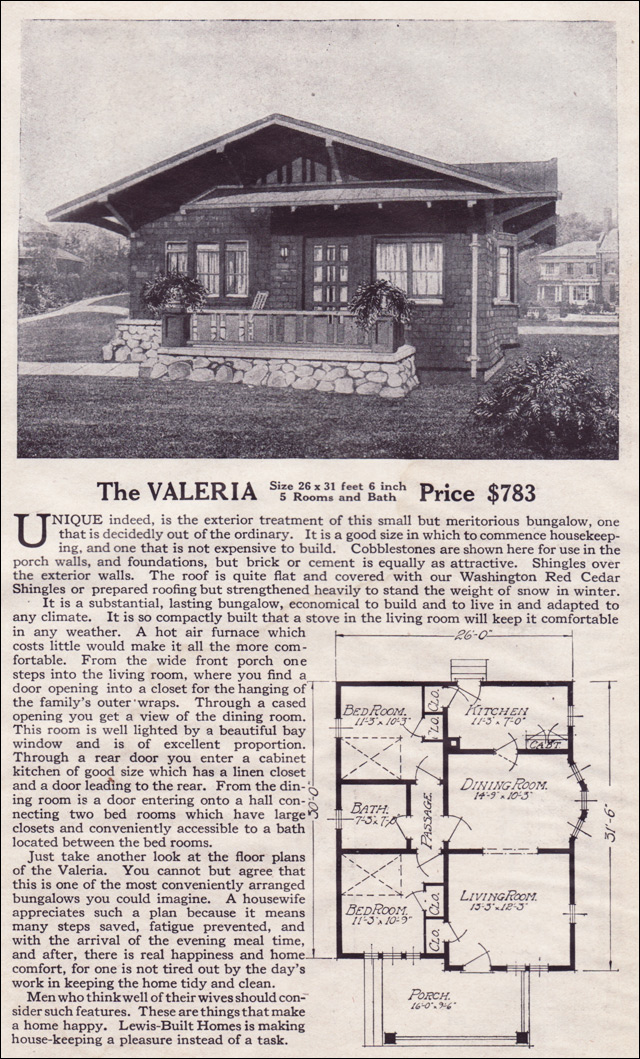 1916 Lewis-Built Homes - The Valeria