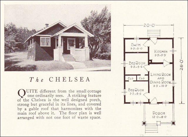 1922 Chelsea Lewis Manufacturing Small Bungalow