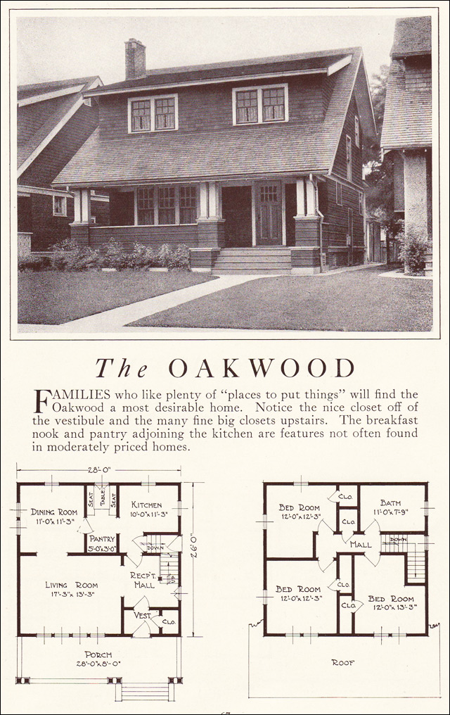 The Oakwood 1922 Lewis Manufacturing Bay City Bungalow