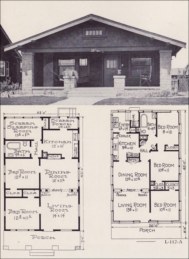 Bungalow Floor Plans carson iii floor plan 1922 Ew Stillwell L 112