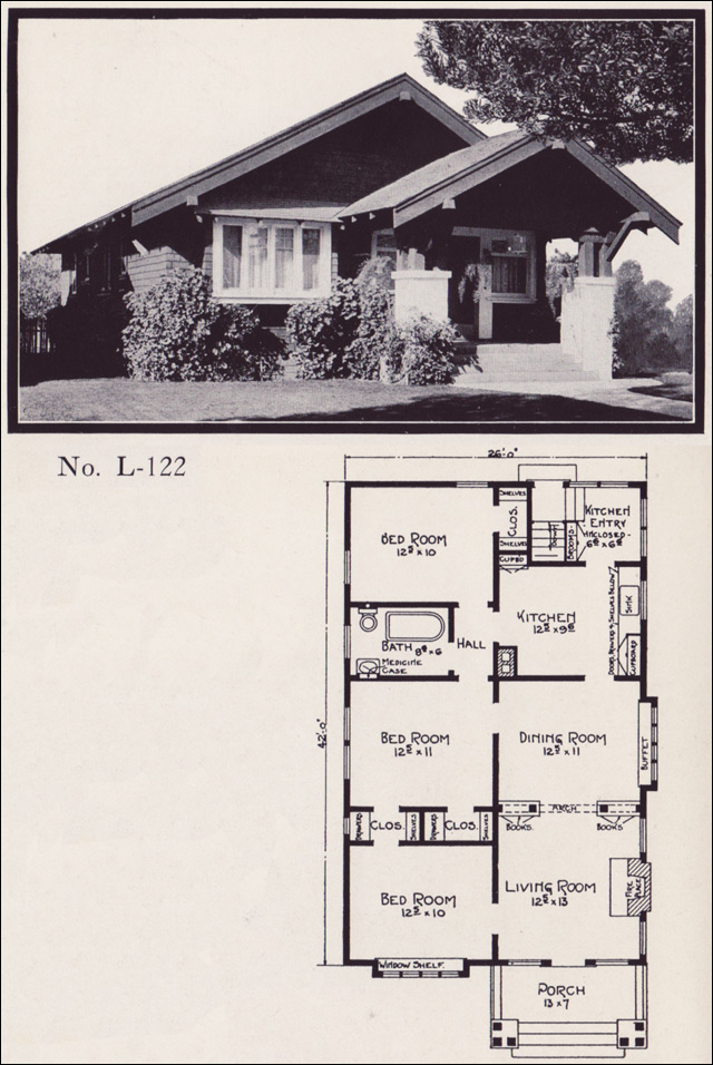 1920s Bungalow Homes By E W Stillwell Co No L 122