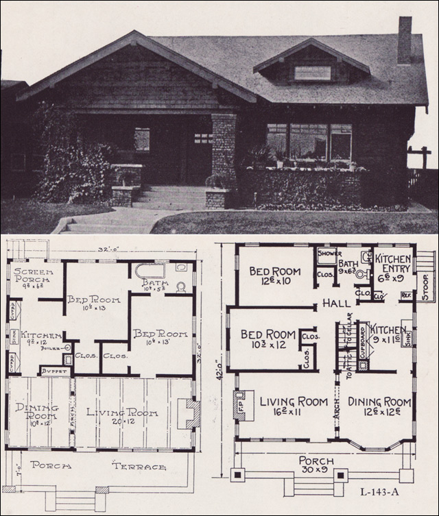 1920s House Plans By The E W Stillwell Co Cross