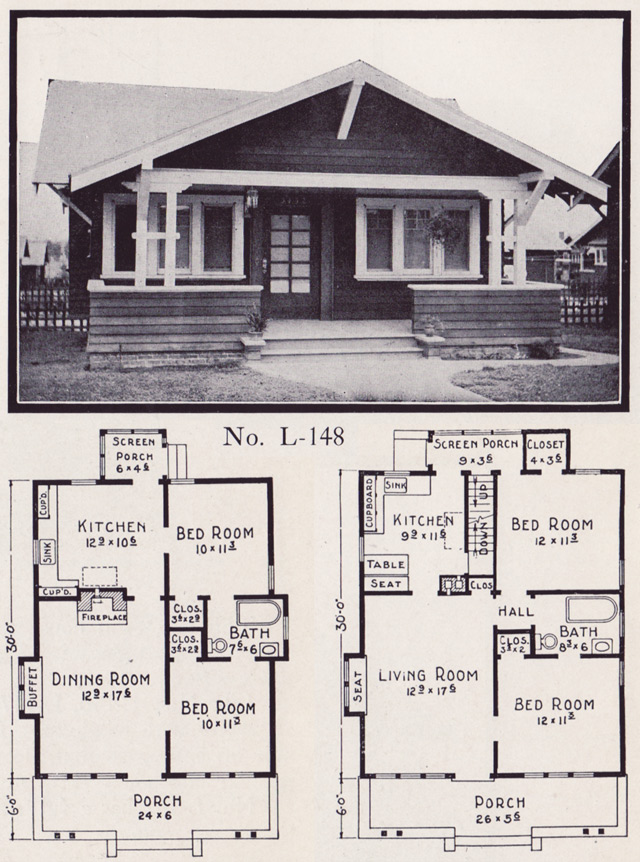1920s House Plans By The E W Stillwell Co Side