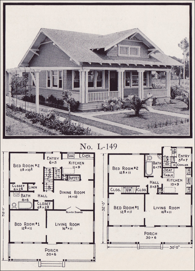 No L 149 1922 House Plans By E W Stillwell Amp Co